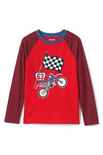 Boys Husky Long Sleeve Flip Sequin Raglan Graphic Tee, Front