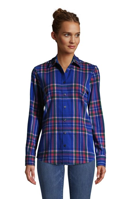 Women's Flannel Boyfriend Fit Long Sleeve Shirt