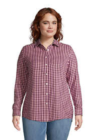 Women's Plus Size Flannel Boyfriend Fit Long Sleeve Shirt