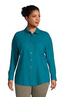 Women's Long Sleeve Flannel Boyfriend Shirt