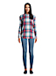 Women's Petite Long Sleeve Flannel Popover Tunic