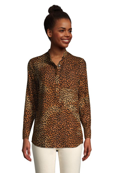 Women's Flannel Long Sleeve Tunic Top