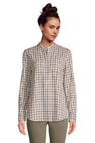 Women's Flannel Long Sleeve Tunic Top