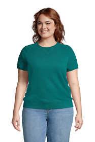 Women's Plus Size Serious Sweats Short Sleeve Sweatshirt