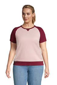 Women's Plus Size Serious Sweats Short Sleeve Sweatshirt