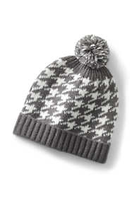 Women's Lightweight Knit Winter Beanie Houndstooth Hat