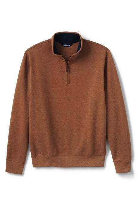 Men's Big and Tall Bedford Rib Heather Quarter Zip Sweater