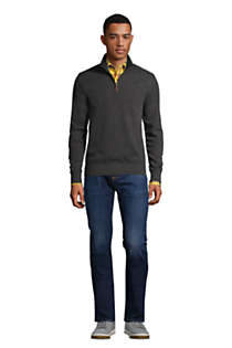 Men's Bedford Rib Heather Quarter Zip Sweater, alternative image