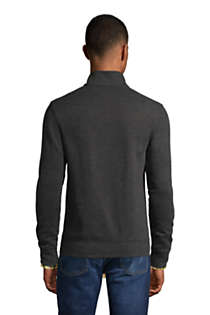 Men's Bedford Rib Heather Quarter Zip Sweater, Back