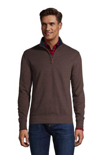 Melierter Zipper-Pullover aus Bedford-Ripp für Herren