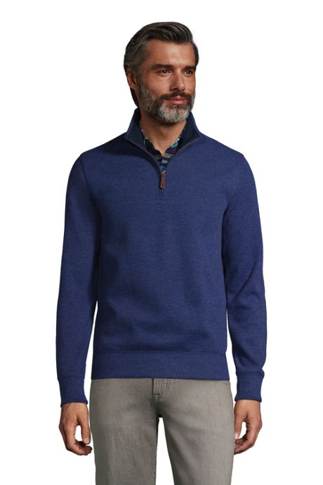 Men's Tall Bedford Rib Heather Quarter Zip Sweater