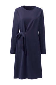 Women's Plus Size Knit Long Sleeve Wrap Detail Dress