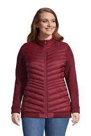 Women's Plus Size Ultralight Down Packable Sweater Fleece Jacket
