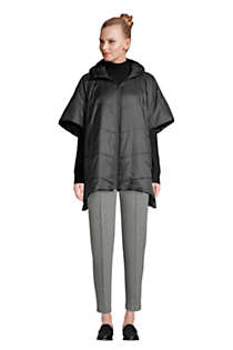 Women's Insulated Quilted Packable Hooded Cape, alternative image