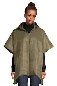 Women's Insulated Quilted Packable Hooded Cape