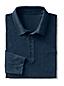 Langarm-Poloshirt aus Slub-Jersey mit Brusttasche für Herren, Classic Fit
