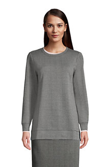 Sweatshirt Long Sport Knit Jacquard, Femme