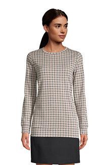 Women's Sport Knit Jacquard Sweatshirt Tunic
