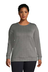 Women's Plus Size Long Sleeve Sport Knit Jacquard Sweatshirt Tunic