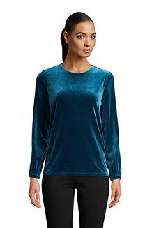 Women's Velvet Long Sleeve Blouse