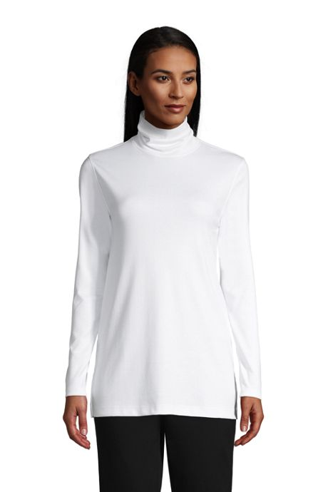 Women's Supima Cotton Turtleneck Tunic
