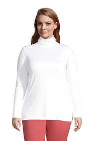 Women's Plus Size Supima Cotton Turtleneck Tunic
