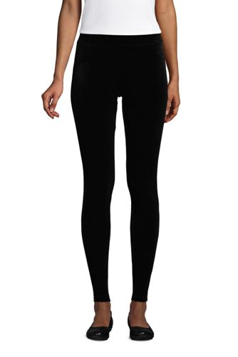 Women's Plus Sport Knit Velvet Leggings