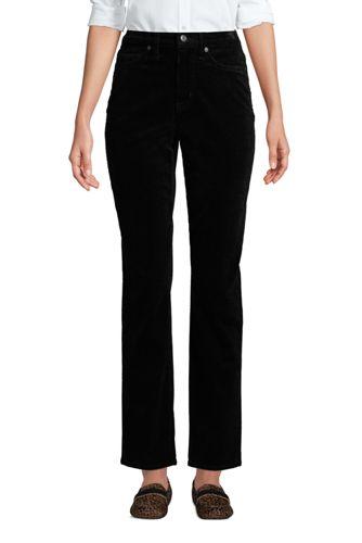 Pantalon Droit 7/8 en Velours Côtelé Stretch Taille Haute, Femme Grande Taille