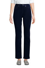 Women's Petite High Rise Wide Wale Cord Straight Leg Ankle Pants