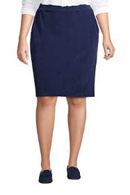 Women's Plus Size Sport Knit Corduroy Pencil Skirt