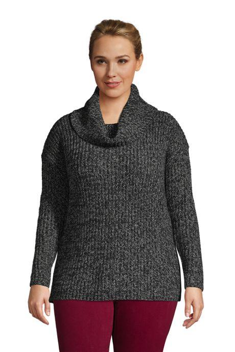 Women's Plus Size Cozy Lofty Cowl Neck Sweater