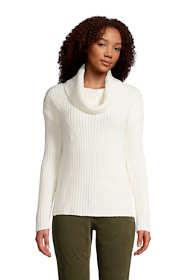 Women's Petite Cozy Lofty Cowl Neck Sweater