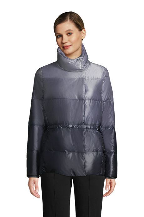 Women's Petite Wrap Quilted Down Jacket