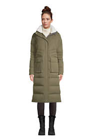 Women's Petite Expedition Winter Maxi Long Down Coat with Hood