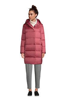 Manteau en Duvet Fermeture Excentrée à Capuche, Femme