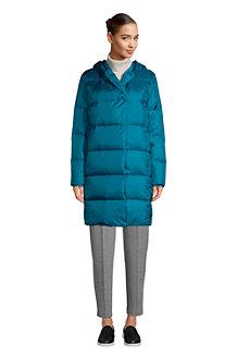 Women's Hooded Wrap Front Down Coat