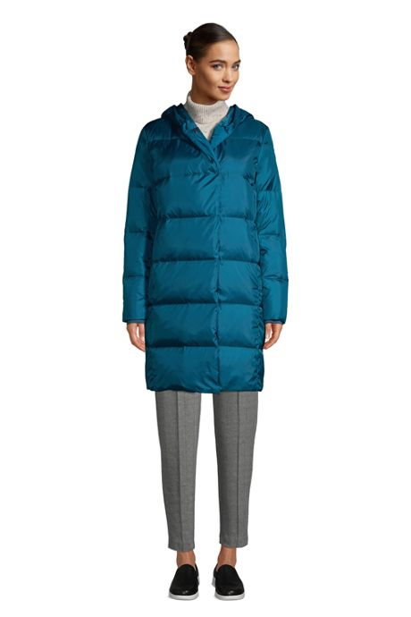 Women's Wrap Quilted Down Coat with Hood