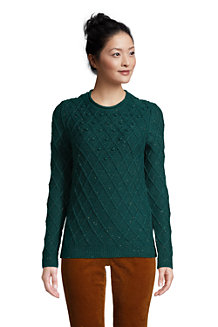 Women's Rolled Neck Festive Jumper, Bobble Stitch