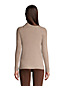 Women's Cotton Cable Side Split Polo Neck Jumper
