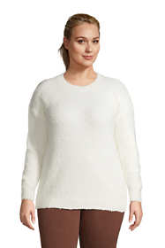 Women's Plus Size Teddy Crew Neck Sweater