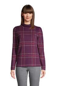 Women's Petite Lofty Mock Sweater - Birdseye Jacquard