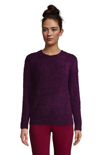 Women's Plus Teddy Crew Neck Jumper