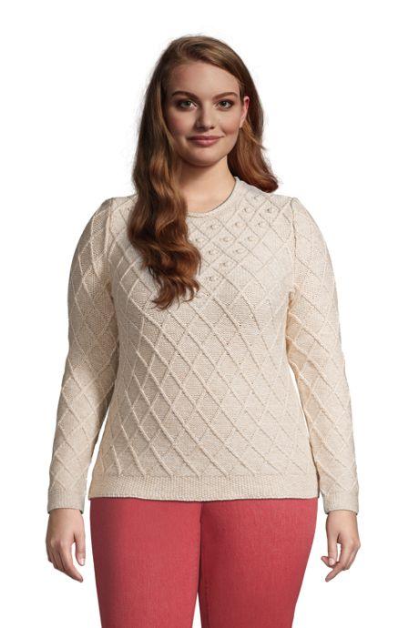 Women's Plus Size Cotton Blend Rollneck Sweater