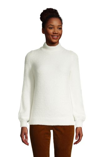 Women's Eyelash Bishop Sleeve Jumper
