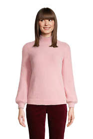 Women's Petite Long Sleeve Eyelash Sweater