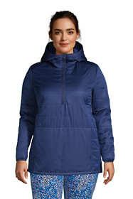 Women's Plus Size Insulated Quilted Pullover Jacket with Hood