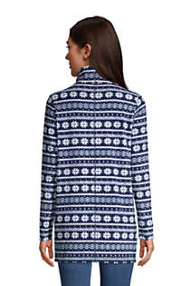 Women's Fleece Tunic Pullover Top Print, Back