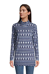 Women's Fleece Tunic Pullover Top Print, Front
