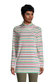 Women's Fleece Tunic Pullover Top Print