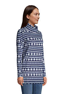 Women's Fleece Tunic Pullover Top Print, alternative image